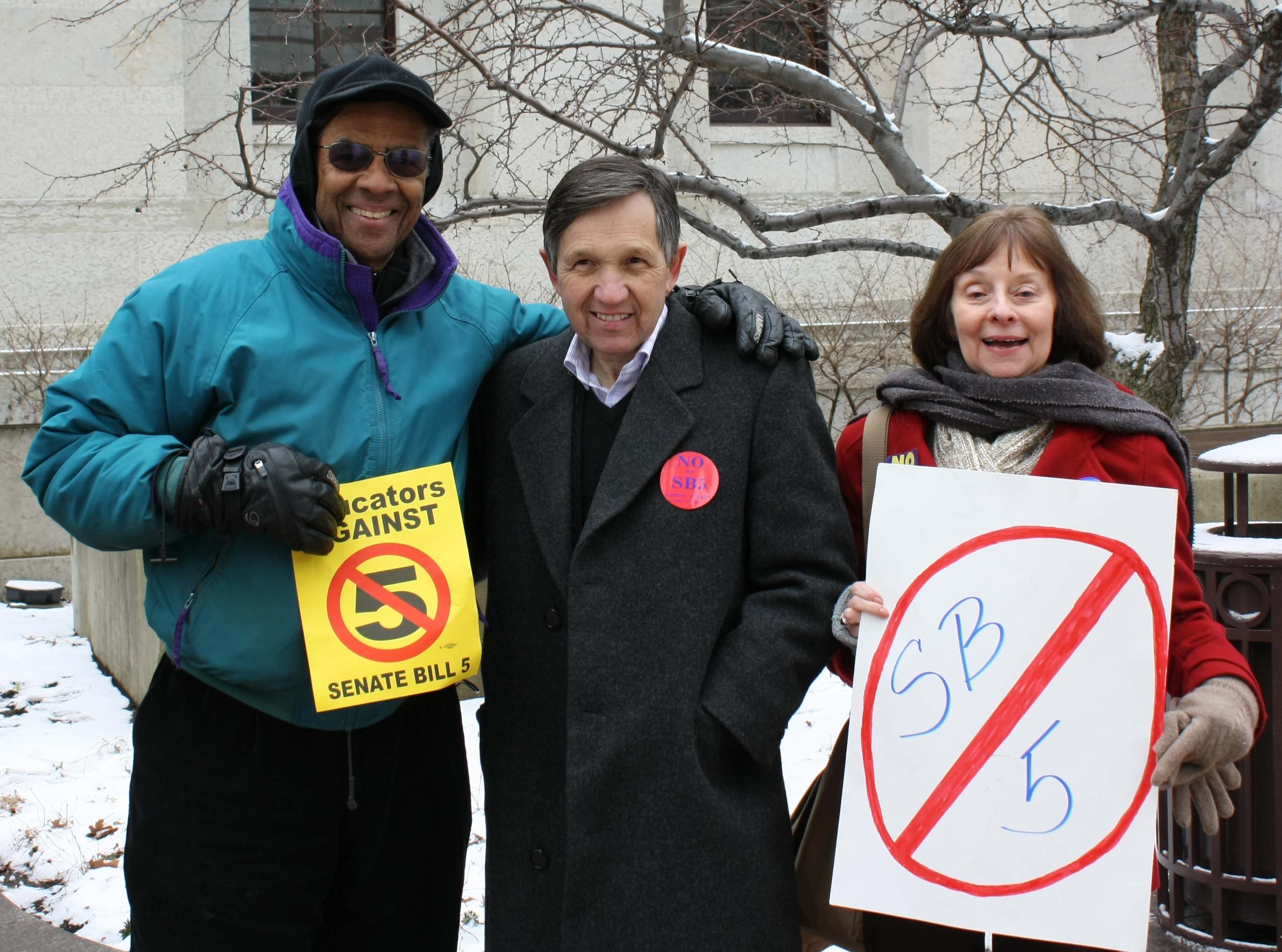 ADA Board members protesting with Rep. Dennis Kucinich in Ohio