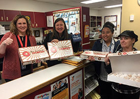 Hot Revolution Donuts donated to the LEV Breakfast