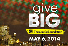 GiveBig 2014; Seattle Foundation; May 6, 2014