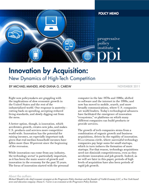 Innovation by Acquisition: New Dynamics of High-Tech Competition