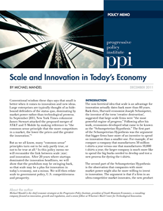 Scale and Innovation in Today's Economy