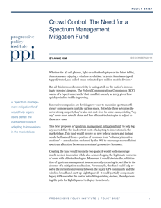 Crowd Control: The Need for a Spectrum Management Mitigation Fund
