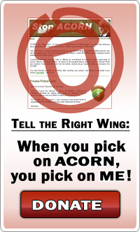Tell the Right Wing: When you pick on ACORN, you pick