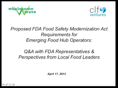 Food Safety Update