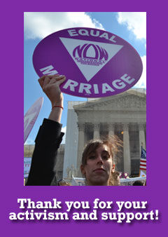 Thank you for your activism and support!