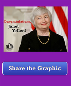 Congratulate Janet Yellen by making this graphic go viral