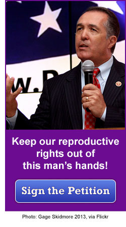 Don't put your reproductive rights in this man's hands!