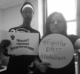 Fight for Dyett selfies
