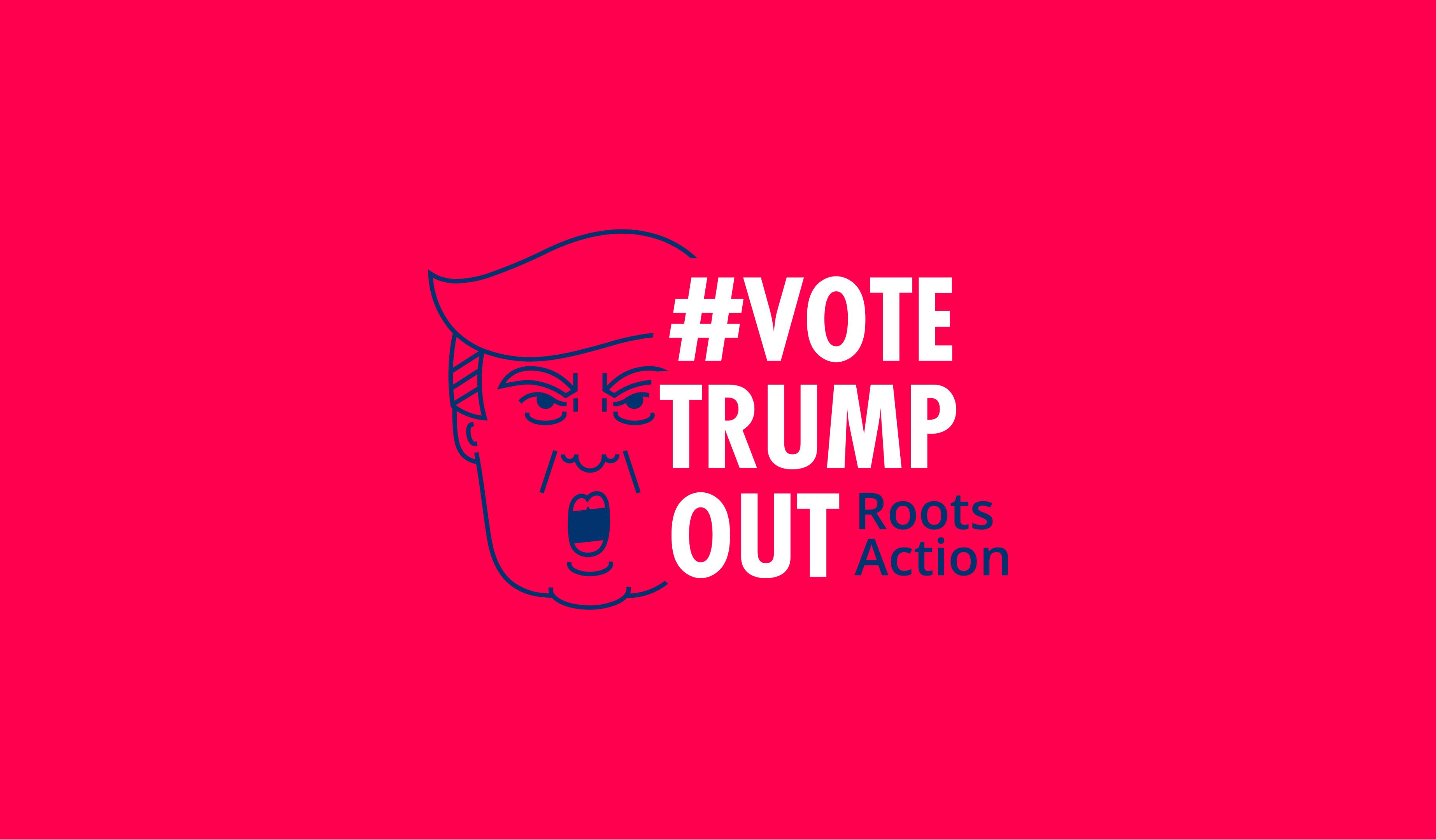 #VoteTrumpOut logo
