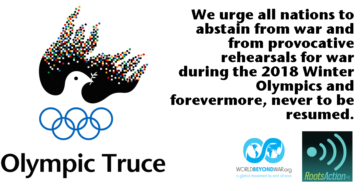 Image result for Support the Olympic Truce in Korea